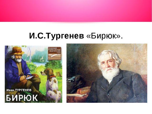 И.С.Тургенев «Бирюк».