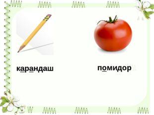 карандаш помидор