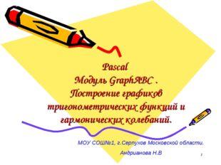 * Pascal Модуль GraphABC . Построение графиков тригонометрических функций и г