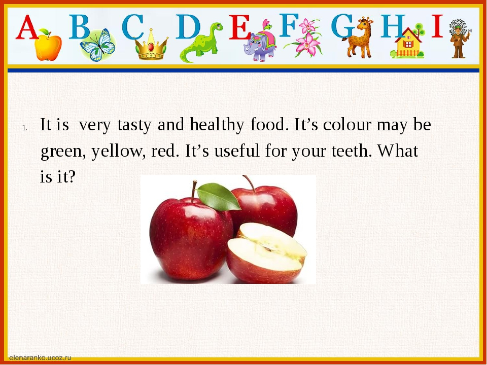 It is very tasty and healthy food. It's colour may be green, yellow, red. It'...