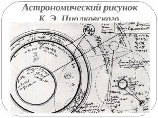 Астрономический рисунок К. Э. Циолковского.
