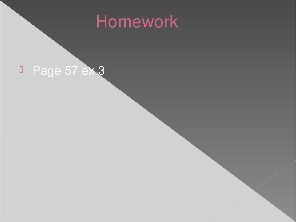 Homework Page 57 ex 3