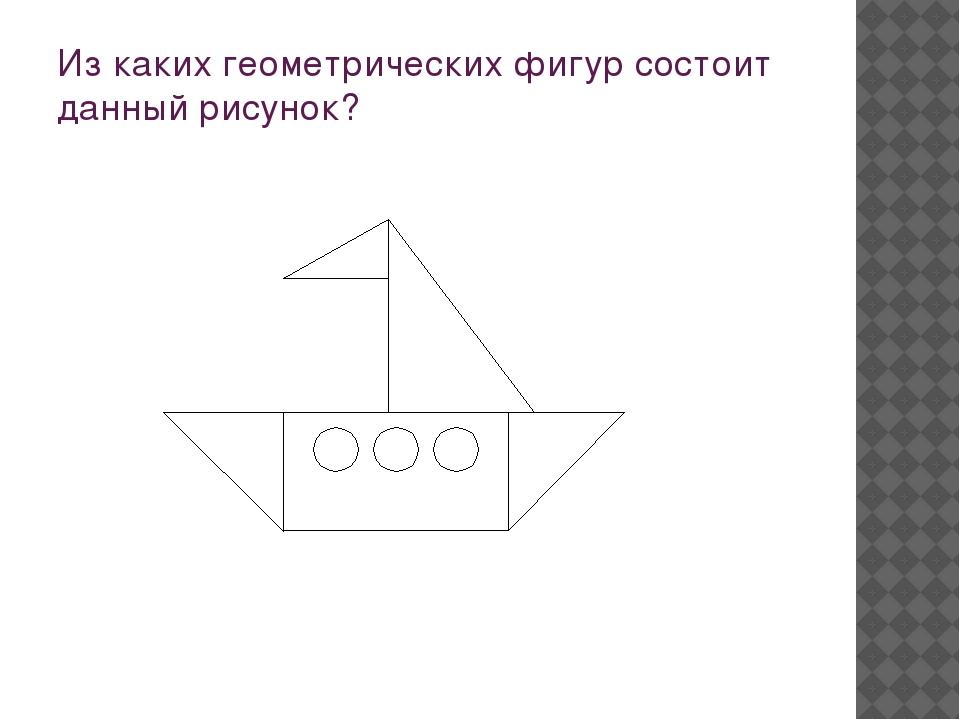 Из каких геометрических фигур состоит данный рисунок?