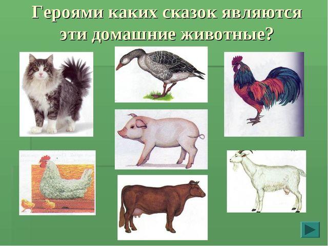 Героями каких сказок являются эти домашние животные?