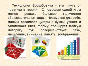 Технология Воскобовича - это путь от практики к теории. С помощью одной игры