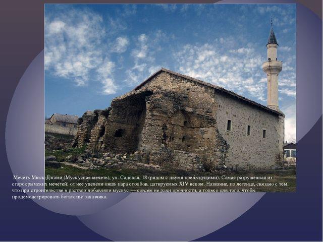 Мечеть Мюск-Джами (Мускусная мечеть), ул. Садовая, 18 (рядом с двумя предыду...