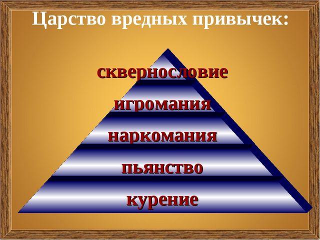 Царство вредных привычек:
