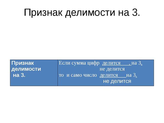 Признак делимости на 3. Признак делимости на3. Если сумма цифрделится___,на 3...