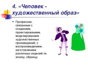 4. «Человек - художественный образ» Профессии, связанные с созданием, проекти