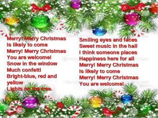 Merry! Merry Christmas Is likely to come Merry! Merry Christmas You are welco