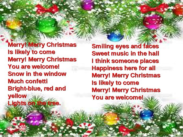 Merry! Merry Christmas Is likely to come Merry! Merry Christmas You are welco...