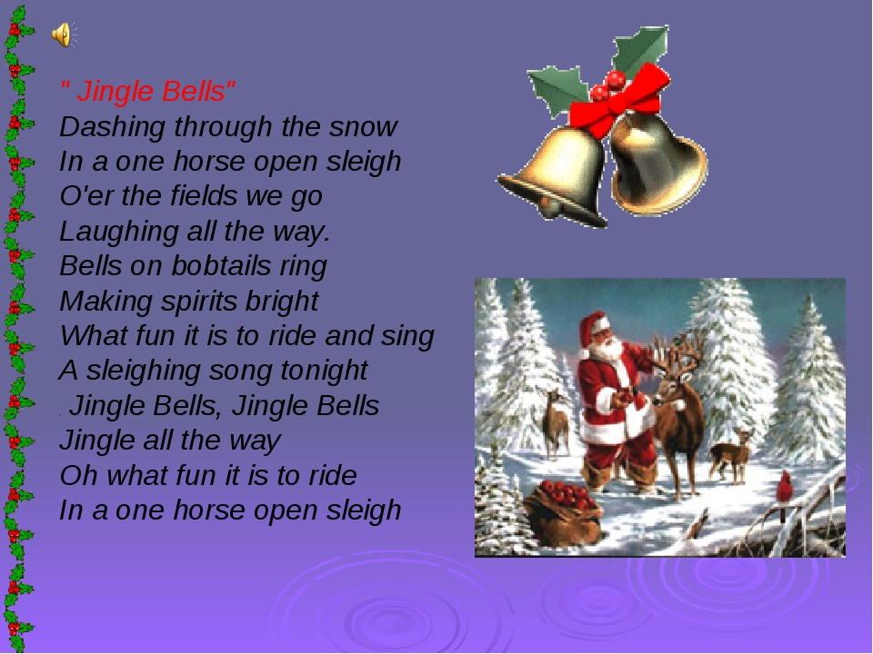 """ Jingle Bells"" Dashing through the snow In a one horse open sleigh O'er the..."