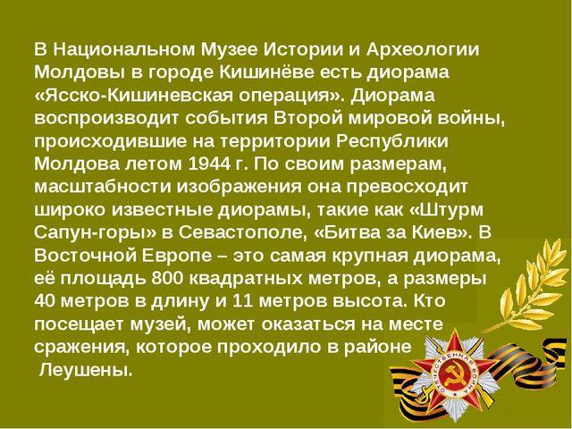 В Национальном Музее Истории и Археологии Молдовы в городе Кишинёве есть диор...