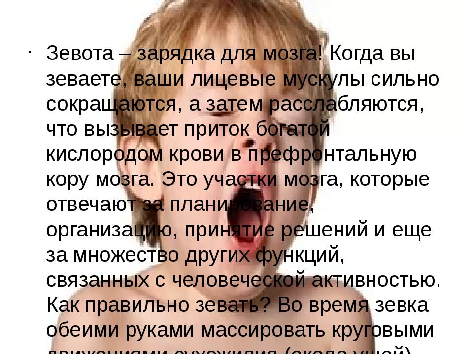 Зевота – зарядка для мозга! Когда вы зеваете, ваши лицевые мускулы сильно сок...