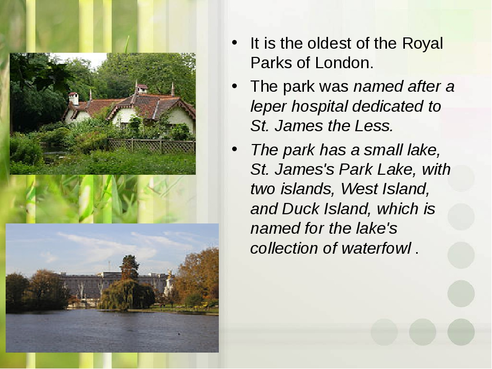 It is the oldest of the Royal Parks of London. The park was named after a lep...