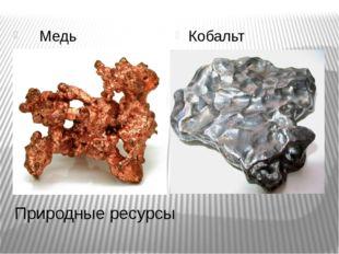 Природные ресурсы Медь Кобальт