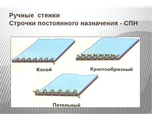 Ручные стежки Строчки постоянного назначения- СПН