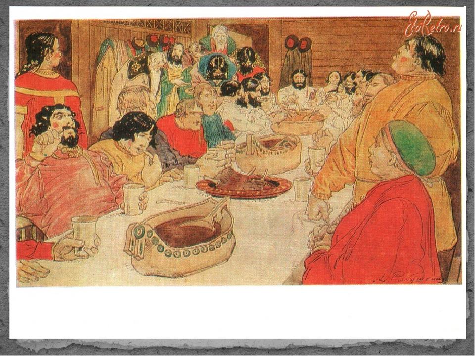 Ретро открытки: Иллюстрация к былине о Василии Буслаеве