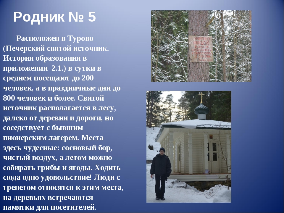 Родник № 5 Расположен в Турово (Печерский святой источник. История образовани...