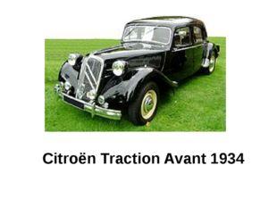 Citroën Traction Avant 1934