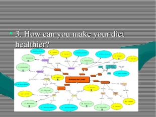 3. How can you make your diet healthier?