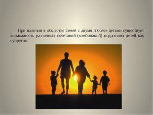 При наличии в обществе семей с двумя и более детьми существует возможность р