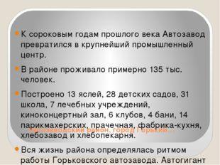 Автозаводский район, город Горький… К сороковым годам прошлого века Автозаво