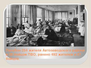 Погибло 254 жителя Автозаводского района и 28 бойцов ПВО, ранено 492 жителей