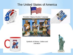The United States of America President Obama Election Campaign Symbols of His