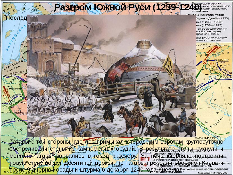 Разгром Южной Руси (1239-1240) Последний бой Меркурия Смоленского Татары с то...