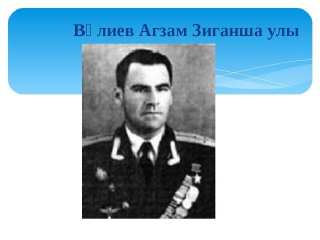 Вәлиев Агзам Зиганша улы