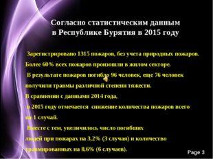 Согласно статистическим данным в Республике Бурятия в 2015 году Зарегистриров