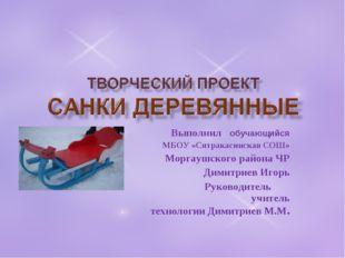 Выполнил обучающийся МБОУ «Сятракасинская СОШ» Моргаушского района ЧР Димитри