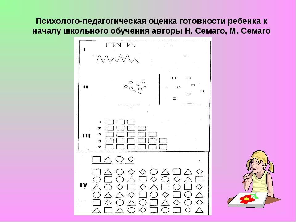 Психолого-педагогическая оценка готовности ребенка к началу школьного обучен...