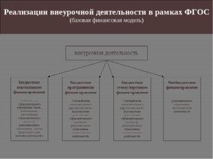 Реализации внеурочной деятельности в рамках ФГОС (базовая финансовая модель)