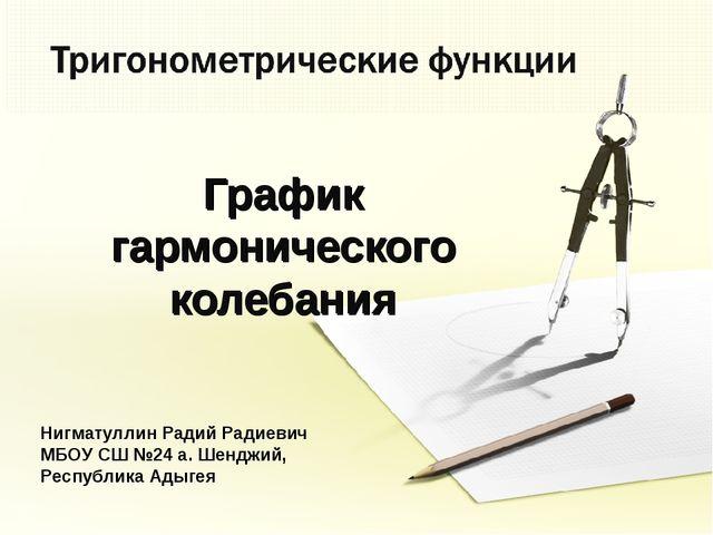 График гармонического колебания Нигматуллин Радий Радиевич МБОУ СШ №24 а. Шен...