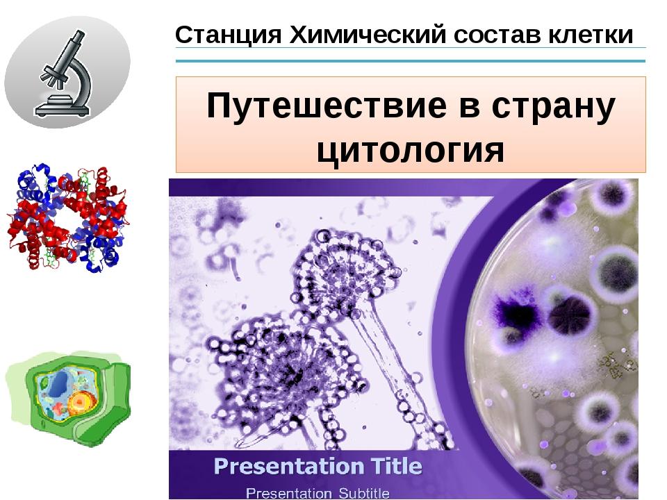 Станция Химический состав клетки Путешествие в страну цитология
