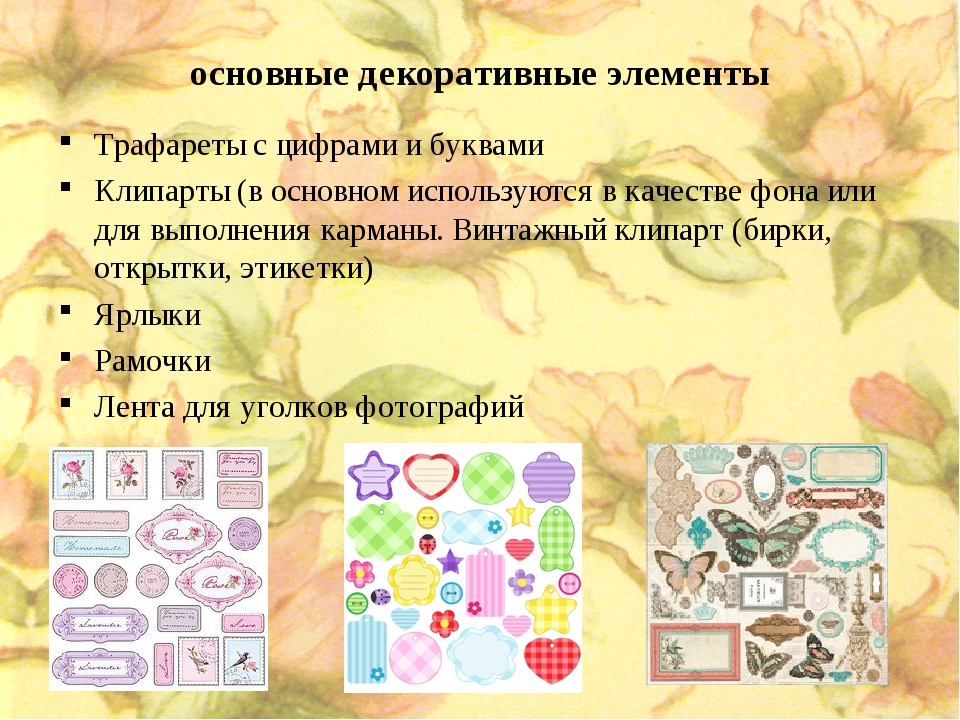 основные декоративные элементы Трафареты с цифрами и буквами Клипарты (в осно...