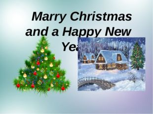 Marry Christmas and a Happy New Year!