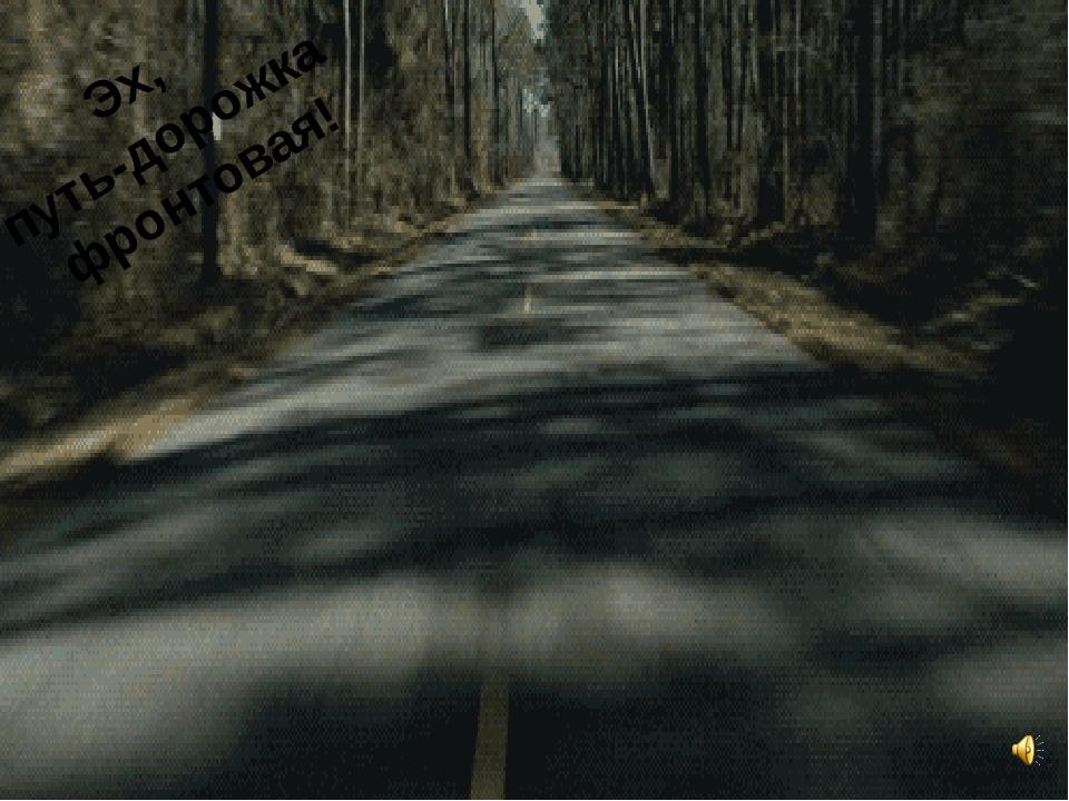 Эх, путь-дорожка фронтовая!