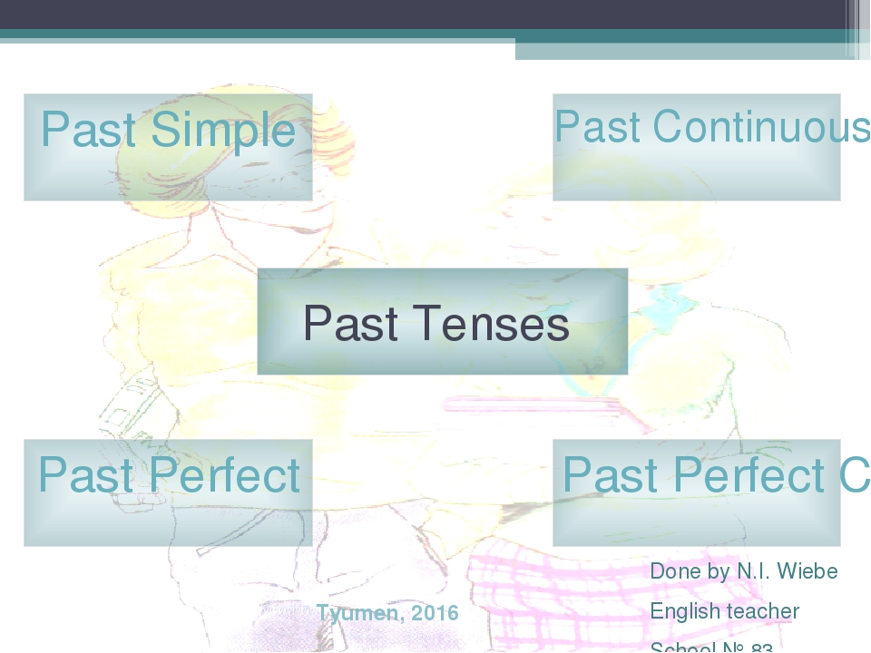Past Tenses Past Simple Past Perfect Past Continuous Past Perfect Continuous...