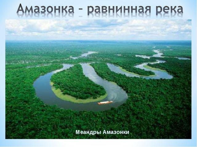 Меандры Амазонки