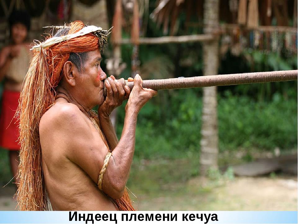 Индеец племени кечуа
