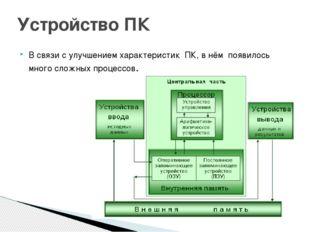 В связи с улучшением характеристик ПК, в нём появилось много сложных процессо