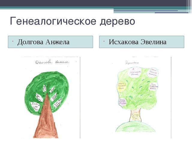 Генеалогическое дерево Долгова Анжела Исхакова Эвелина