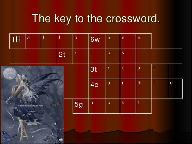 The key to the crossword.