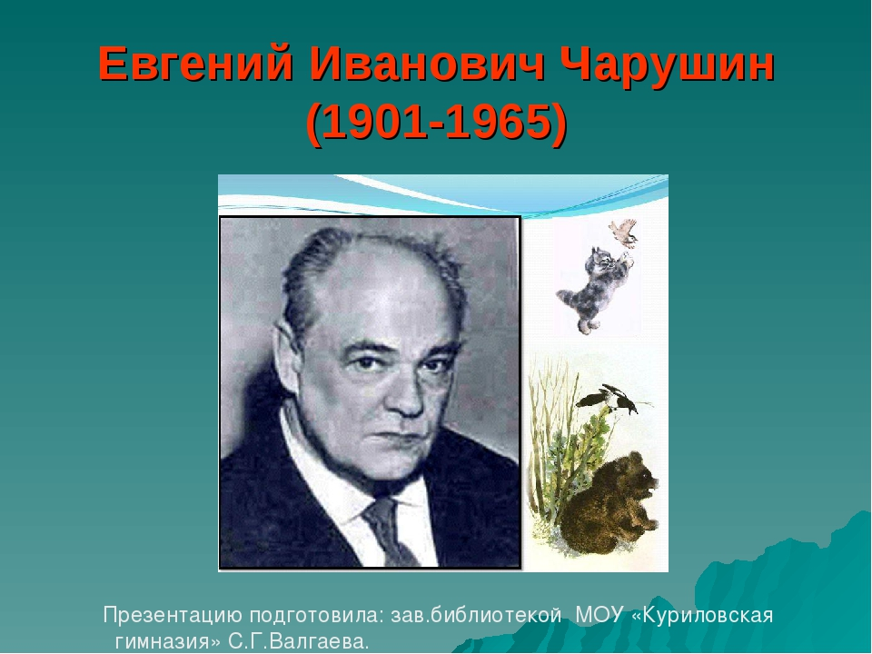 Евгений Иванович Чарушин (1901-1965) Презентацию подготовила: зав.библиотекой...