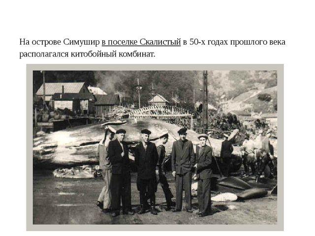 На острове Симуширв поселке Скалистыйв 50-х годах прошлого века располагал...