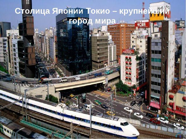 Столица Японии Токио – крупнейший город мира