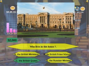 Who lives in this house ?. A. the British Ministers B. the British Prime Min